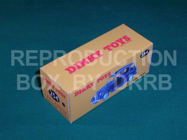 Dinky #254 (40h) Austin Taxi - Reproduction Box ( Blue  )